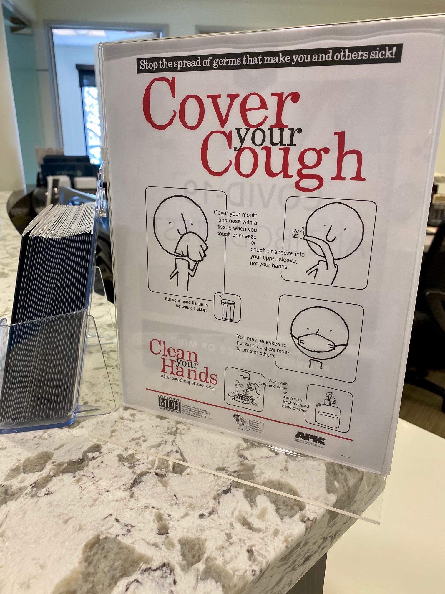 cover your cough sign