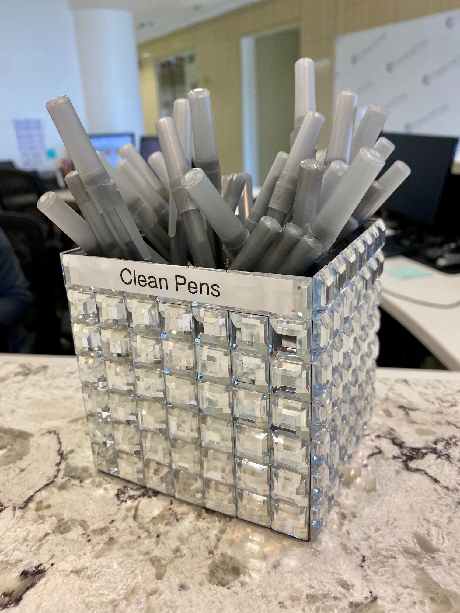 clean pens